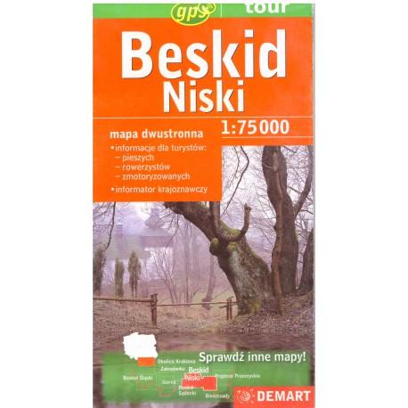 DEMART Beskid Niski/Nízké Beskydy 1:75 000