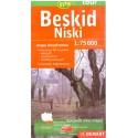 DEMART Beskid Niski/Nízké Beskydy 1:75 000 turistická mapa