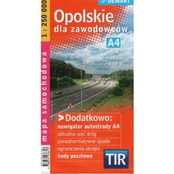 DEMART Województwo opolskie/Opolské vojvodství 1:250 000 automapa