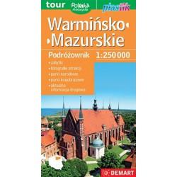 DEMART Województwo Warmińsko-mazurskie/Varmijsko-mazurské vojvodství 1:250 000 automapa
