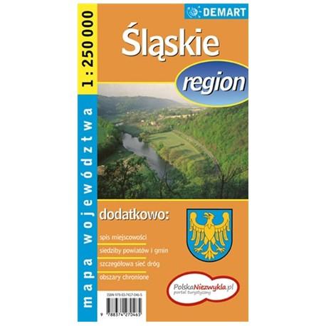 DEMART Województwo śląskie/Slezské vojvodství 1:250 000 automapa