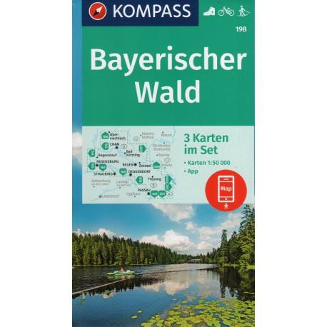 Kompass 198 Bayerischer Wald 1:50 000