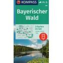 Kompass 198 Bayerischer Wald 1:50 000 turistická mapa