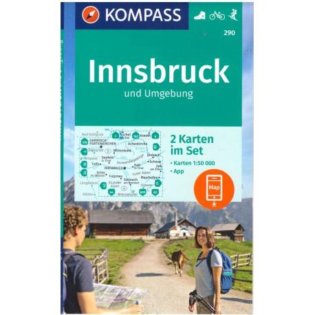 Kompass 290 Rund um Innsbruck 1:50 000