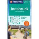 Kompass 290 Rund um Innsbruck 1:50 000 turistická mapa