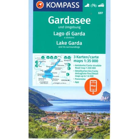 Kompass 697 Gardasee/Lago di Garda und Umgebung 1:35 000