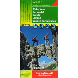 Freytag & Berndt WK 322 Wetterstein, Karwendel, Seefeld, Leutasch, Garmisch-Partenkirchen