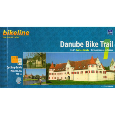 Bikeline Dunajská cyklostezka 1 (Danube Bike Trail) 1:50 000 cykloprůvodce