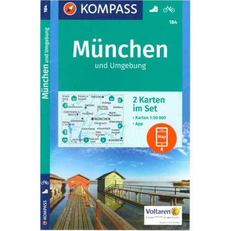 Kompass 184 Munchen und Umgebung 1:50 000