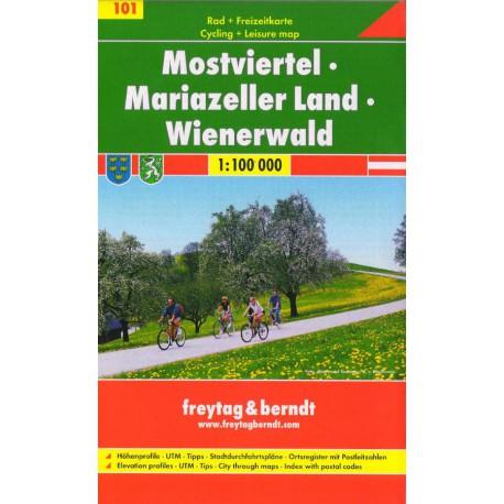 Freytag & Berndt 101 Mostviertel, Mariazeller Land, Wienerwald 1:100 000