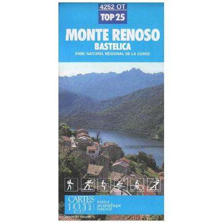 IGN 4252 Monte Renoso, Bastelica 1:25 000