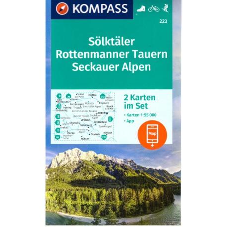 Kompass 223 Seckauer Alpen, Murtal - Gleinalm 1:50 000