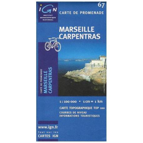IGN 67 Marseille, Carpentras 1:100 000