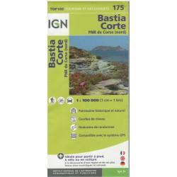 IGN 175 Bastia, Corte 1:100 000 turistická mapa