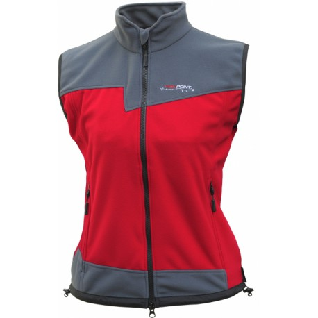 High Point Rock Lady Vest red/dark grey
