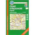 KČT 10 České středohoří západ 1:50 000 turistická mapa