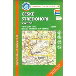 KČT 11 České středohoří východ 1:50 000 turistická mapa