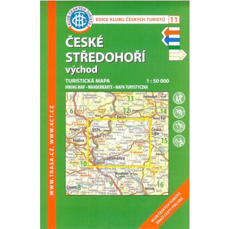 KČT 11 České středohoří východ 1:50 000