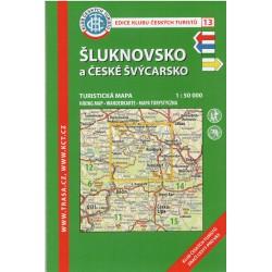 KČT 13 Šluknovsko a České Švýcarsko 1:50 000 turistická mapa