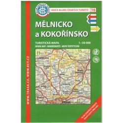 KČT 16 Mělnicko a Kokořínsko 1:50 000