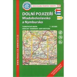 KČT 17 Dolní Pojizeří, Mladoboleslavsko a Nymbrusko 1:50 000 turistická mapa