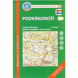 KČT 23 Podkrkonoší 1:50 000 turistická mapa
