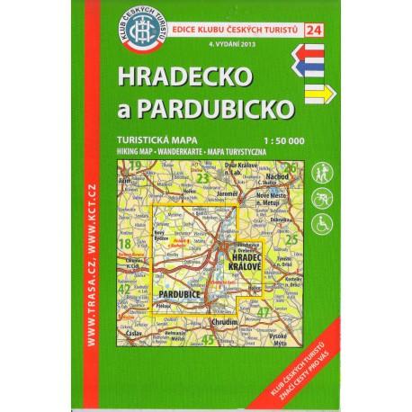 KČT 24 Hradecko a Pardubicko 1:50 000