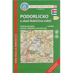 KČT 25 Podorlicko a okolí Babiččina údolí 1:50 000 turistická mapa