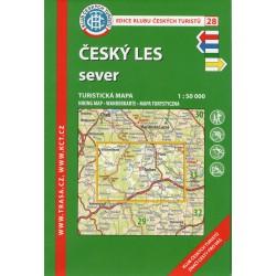KČT 28 Český les sever 1:50 000 turistická mapa