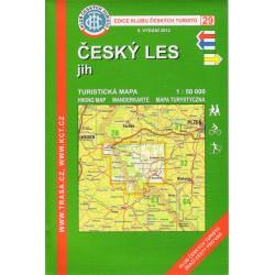 KČT 29 Český les jih 1:50 000 turistická mapa