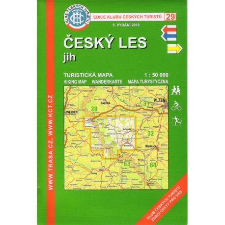 KČT 29 Český les jih 1:50 000