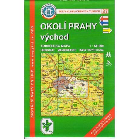 KČT 37 Okolí Prahy východ 1:50 000
