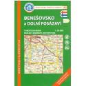 KČT 40 Benešovsko a Dolní Posázaví 1:50 000 turistická mapa