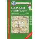 KČT 41 Česká Sibiř a Táborsko sever 1:50 000 turistická mapa