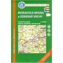 KČT 60 Moravská brána a Oderské vrchy 1:50 000 turistická mapa
