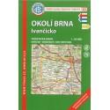 KČT 83 Okolí Brna, Ivančicko 1:50 000 turistická mapa