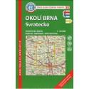 KČT 85 Okolí Brna, Svratecko 1:50 000 turistická mapa