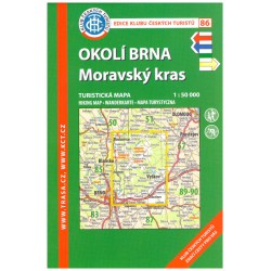 KČT 86 Okolí Brna, Moravský kras 1:50 000