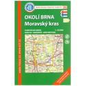 KČT 86 Okolí Brna, Moravský kras 1:50 000 turistická mapa