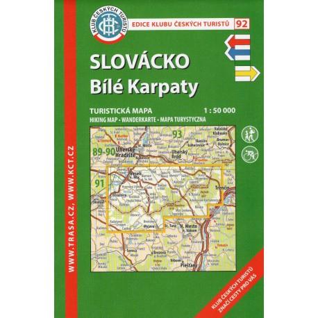 KČT 92 Slovácko, Bílé Karpaty 1:50 000