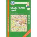 KČT 36 Okolí Prahy západ 1:50 000 turistická mapa