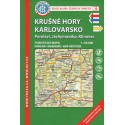 KČT 4 Krušné hory, Karlovarsko, Porolaví, Jáchymovsko, Klínovec 1:50 000 turistická mapa
