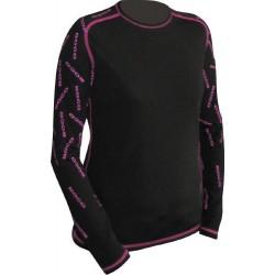 Jitex BoCo Ilesa 801 BIS černá/růžová dámské triko dlouhý rukáv