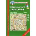 KČT 39 Střední Povltaví, Zvíkov a Orlík 1:50 000 turistická mapa