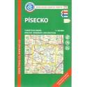 KČT 71 Písecko 1:50 000 turistická mapa