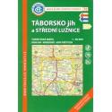 KČT 76 Táborsko jih a Střední Lužnice 1:50 000 turistická mapa
