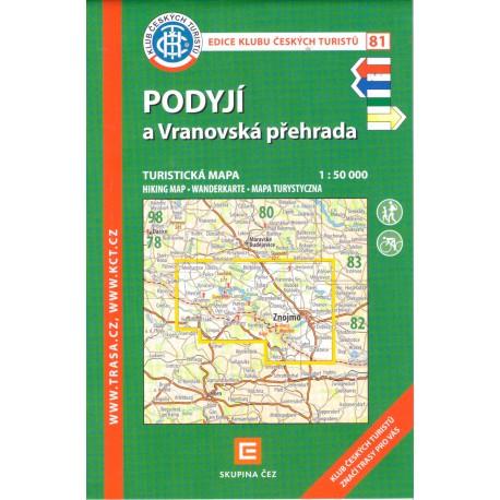 KČT 81 Podyjí a Vranovská přehrada 1:50 000