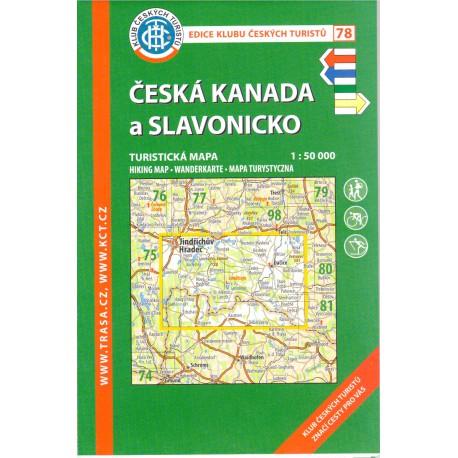 KČT 78 Česká Kanada a Slavonicko 1:50 000