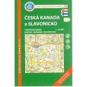 KČT 78 Česká Kanada a Slavonicko 1:50 000 turistická mapa