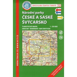 KČT 12 Národní parky České a Saské Švýcarsko 1:50 000